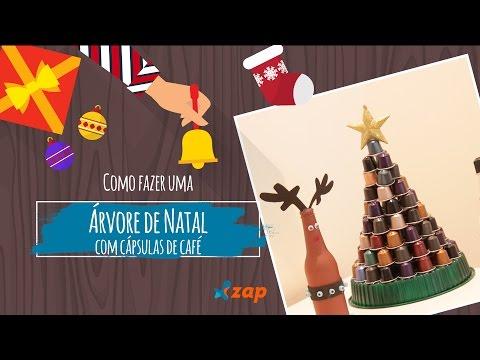 Como fazer uma árvore de Natal com cápsulas de café - Faça Você Mesmo