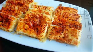 Su böreği tadında sodalı börek tarifi - Sodalı tepsi böreği nasıl yapılır - Börek tarifleri