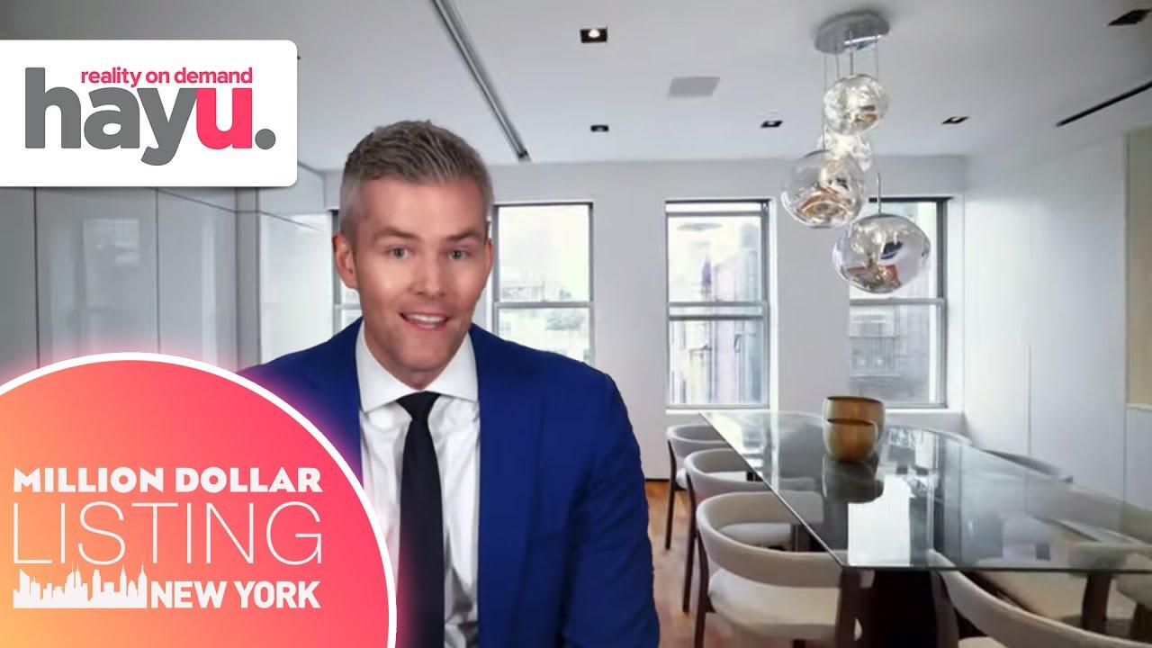 Ryan Serhant Gives Penthouse Viewing Through Two Phones | Season 9 | Million Dollar Listing New York
