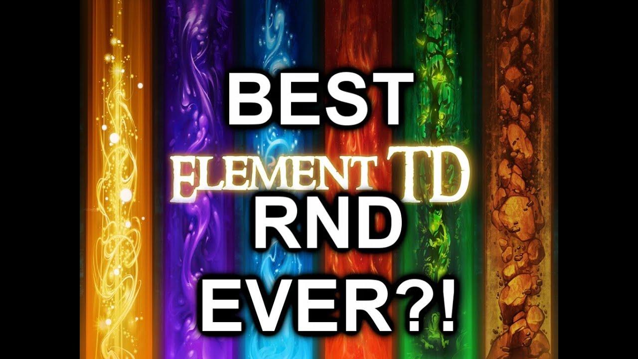 ELEMENT TD! |BEST RUSH ALL RANDOM EVER?!| DOTA 2 REBORN MOD