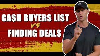 Wholesale Deals vs Building a Cash Buyers List in 2019