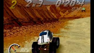Thunder Truck Rally PS1 Intro + Gameplay