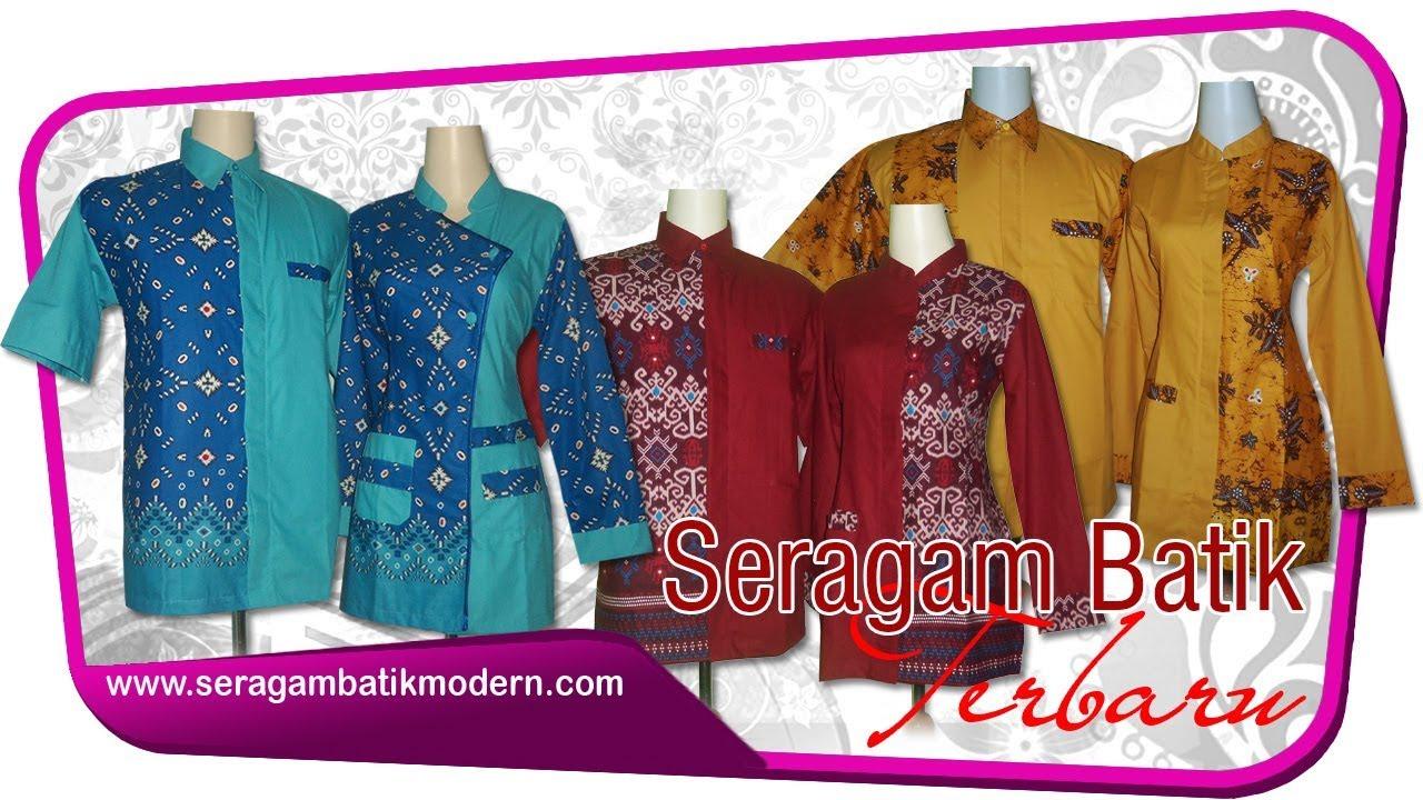 Model Seragam Batik Modern Terbaru Model Seragam Batik Kombinasi Baju Batik Modern