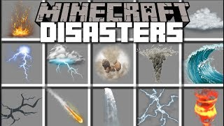 Minecraft DISASTERS MINIGAME MOD / FIGHT AND SURVIVE THE EVIL DISASTERS AND PLAGUES!! Minecraft