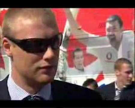 freddie flintoff interview - ashes parade 2005