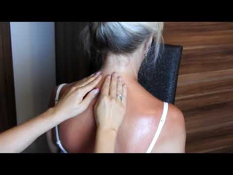 Neck and shoulders coconut oil massage*ASMR