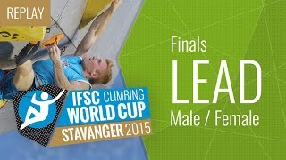 IFSC Climbing World Cup Stavanger 2015 - Lead - Finals - Male/Female