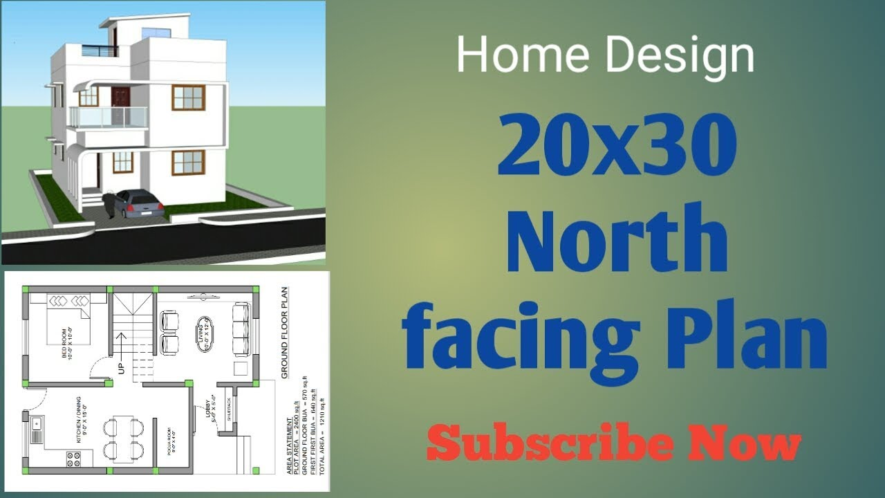 20x30 North Facing House Plan