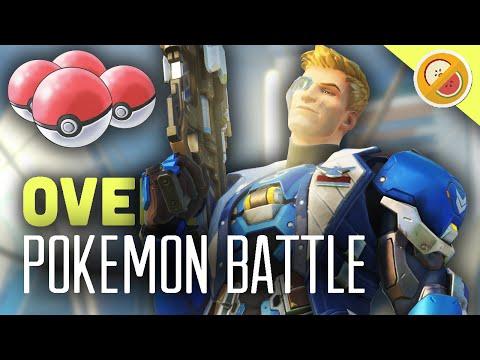 POKEMON BATTLE - ASH VS GARY! Overwatch Custom Game Gameplay (Funny Moments)
