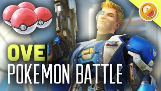 POKEMON BATTLE - ASH VS GARY! Overwatch Custom Game Gameplay (Funny Moments)