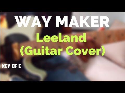 Way Maker Leeland Guitar Tutoriallead Youtube