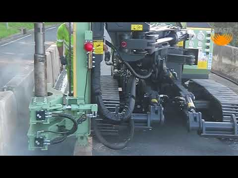 Fraste MITO 8 drilling rig at work in Bilbao,Spain