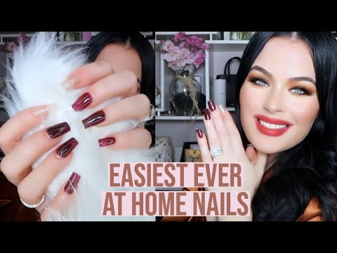 Easiest Ever At Home Nails Tutorial! Dashing Diva Nails 2020