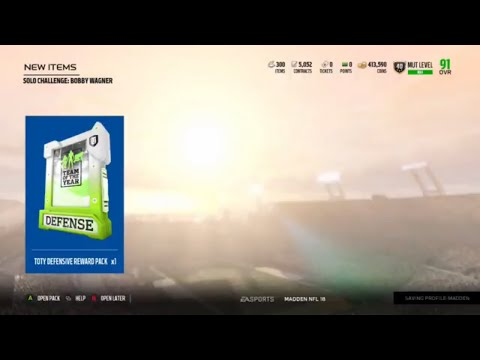 Madden 18 Ultimate Team Team of the Year Defensive Player Solo Reward Opening  NAT