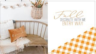 Fall Farmhouse Entry Way Decorate with me   Fall Decor   Clean and Simple Fall Decor