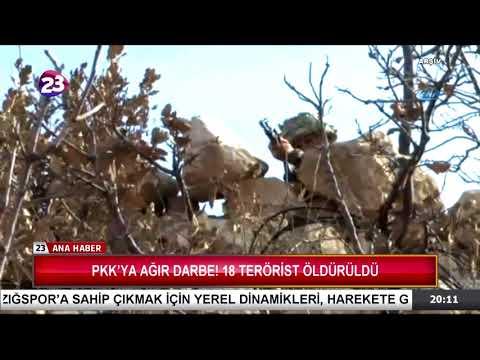 PKK'YA AĞIR DARBE! 18 TERÖRİST ÖLDÜRÜLDÜ