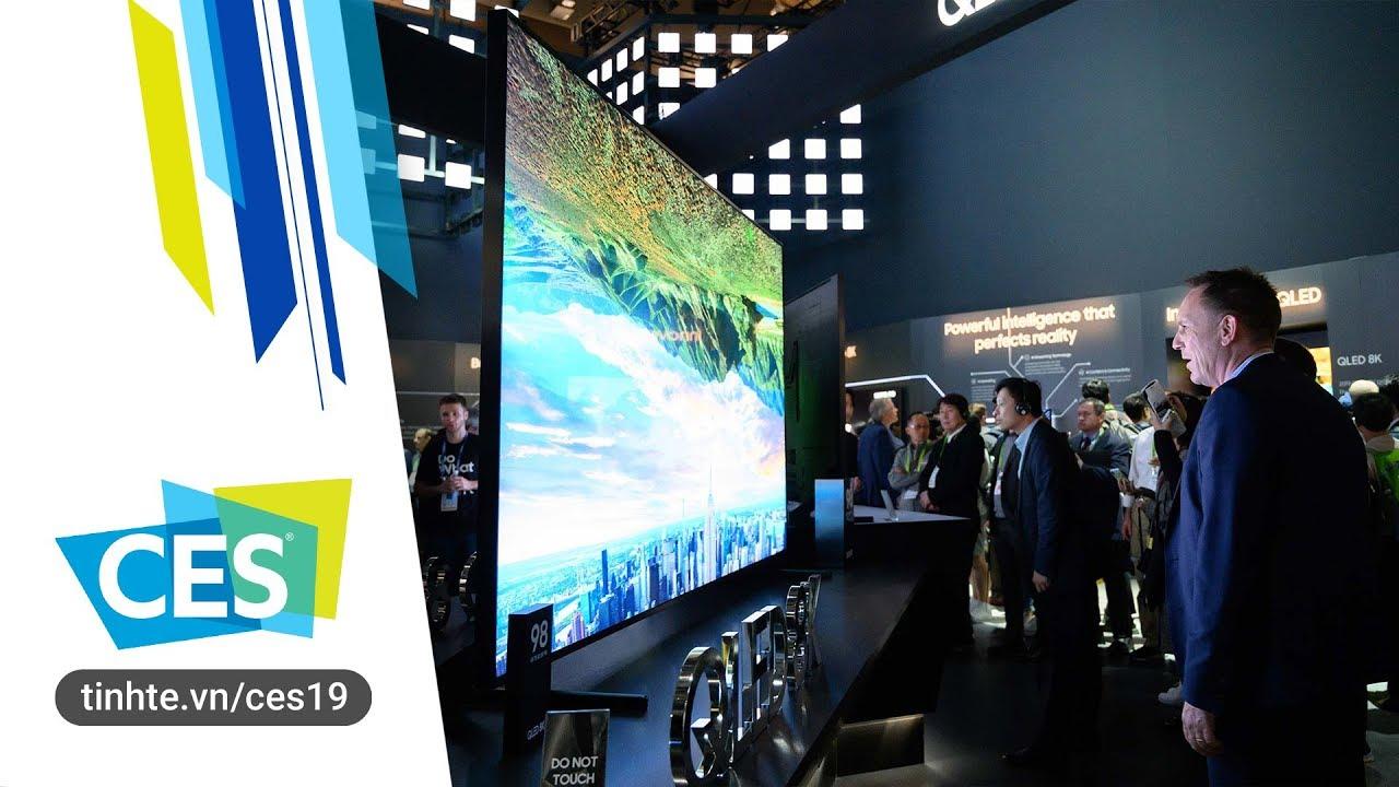 """Trên tay TV khổng lồ 98"""", 8K, QLED từ Samsung"""