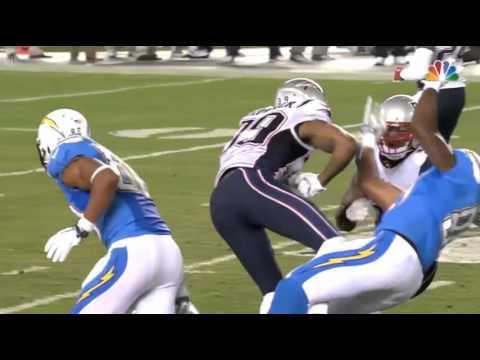 Patriots vs. Chargers Brandon Browner Smashes Ladarius Green