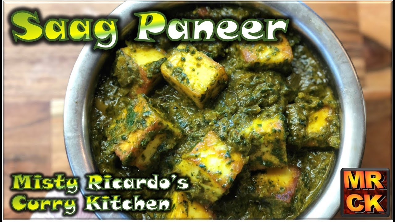 Saag Paneer Indian Restaurant Style Youtube