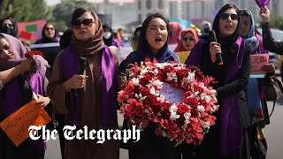 video: Watch: Women's march in Kabul ended abruptly by Taliban special forces