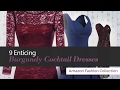 9 Enticing Burgundy Cocktail Dresses Amazon Fashion Collection