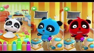 baby panda learning to color food talk to kiki babybus kids games