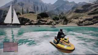 Ocean Escape from a Police chase GTA V Gameplay