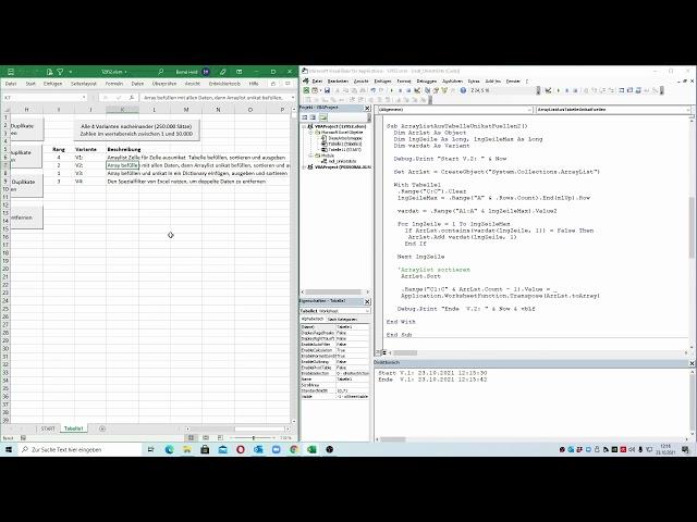269: Excel-VBA: Der Performance-Check: Vier Varianten, eine sortierte Unikatsliste zu erstellen