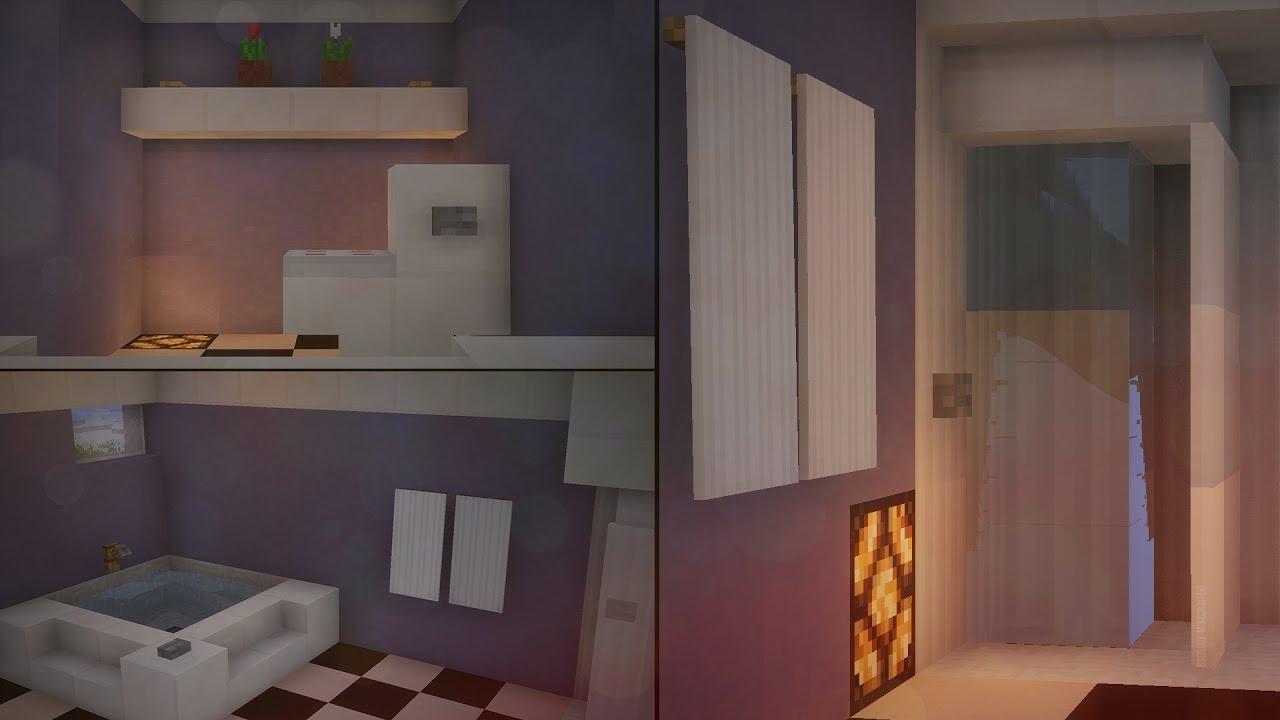 Minecraft : Çalışan Banyo Yapımı ! (Modsuz - Komut Bloksuz)