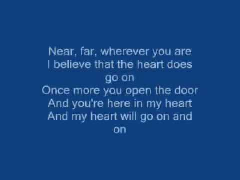 Titanic Song-My Heart Will Go On lyrics By Celin Dion