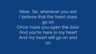 Titanic Song-My Heart Will Go On lyrics By Celin Dion