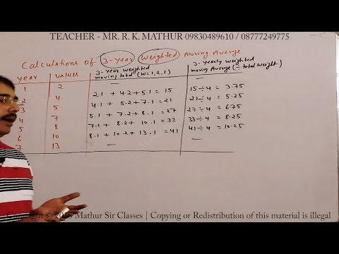 Construct 3 Yearly Weighted Moving Average Sums 06 | Time Series | Statistics | Mathur Sir Classes