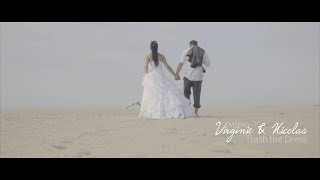 "MAKING-OF ""TRASH THE DRESS"" VIRGINIE ET NICOLAS"