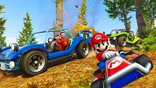 GTA 5 Mario Kart Races!! EPIC Rainbow Road Maps & MORE | GTA V Online