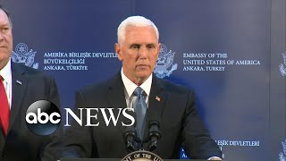 Turkey agrees to Syria ceasefire: Vice President Mike Pence l ABC News