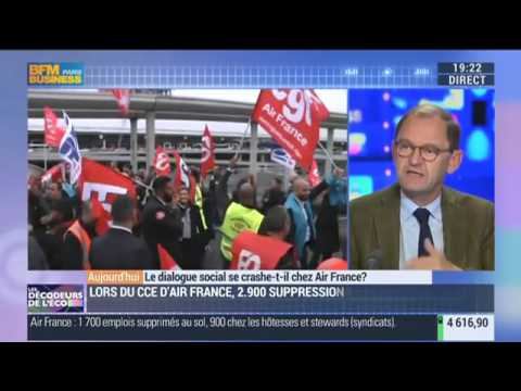 BFM Business-Les décodeurs de l'éco - Le dialogue social se crashe t il chez Air France - 05/10/2015