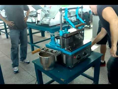 Commercial soft ice cream cone making machine tt et4b youtube commercial soft ice cream cone making machine tt et4b ccuart Images