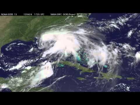 Tropical Storm Debby Seen From Space   Video