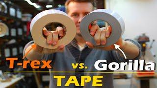 Gorilla Tape vs T-rex Tąpe | Compare Duct Tape | Review