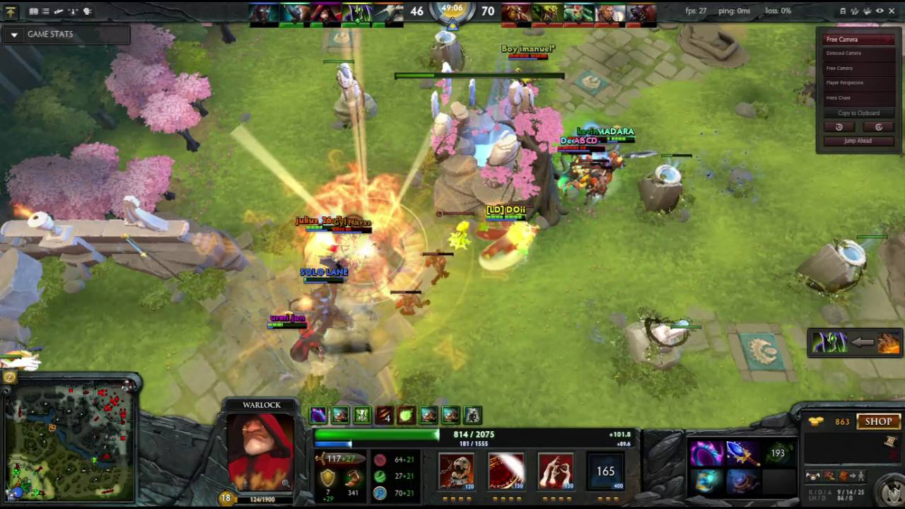 dota 2 l warlock defense time l dota 2 moments l warlock vs medusa