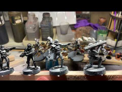 Contrast paints experiments with star wars legion stormtroopers