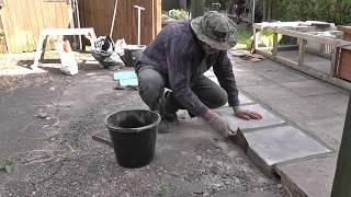 DIY: Patio repair - replacing concrete slabs
