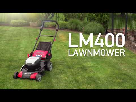 LM400 Cordless Lawnmower - battery powered lawnmower - YouTube