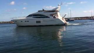 Princess 62 Yacht crashing in Dock in Læsø Harbour Denmark