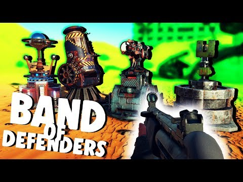 Ulitmate Turrets and Defending the Nuke! - Band of Defenders Gameplay