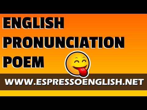 English Pronunciation Poem with Audio