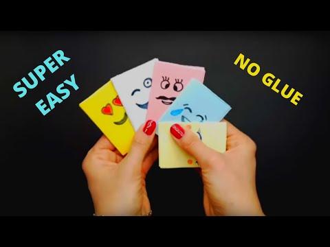 How to make MINI POCKET NOTEBOOK  (1 paper, NO glue)