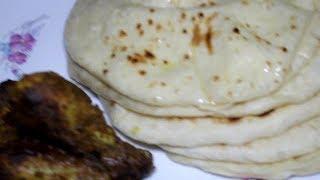 গ্যসের চুলায় তৈরি পারফেক্ট নান রুটি  how to make Naan Roti  in Bangla  Nan Ruti Recipe by Razia