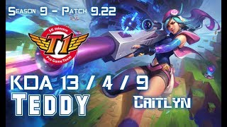 SKT T1 Teddy CAITLYN vs HEIMERDINGER Bot - Patch 922 KR Ranked