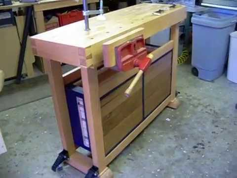 Small Woodworking Bench Youtube